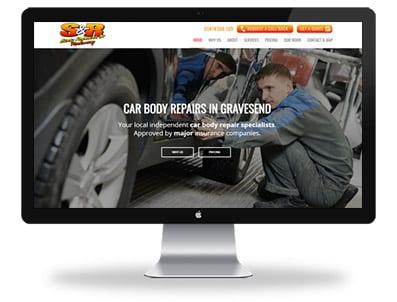 SR Body - Repair-Boxed Up Media - Web Design - Featured Desktop