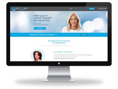 The Good Skin Company - Web Design