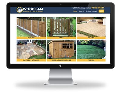Woodham Fencing and Landscaping - Responsive Website Design