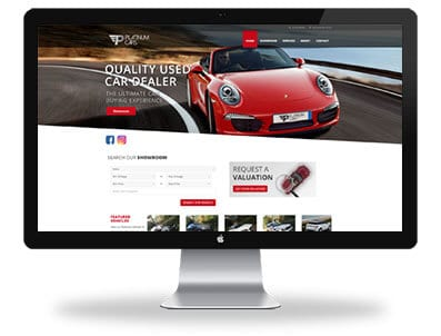 Platinum cars website design home page