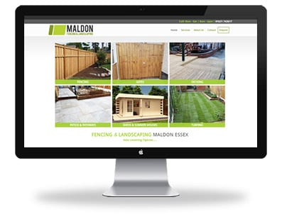 Maldon Fencing website design home page