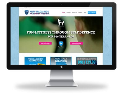 Krav Maga Kids Website Design Home Page