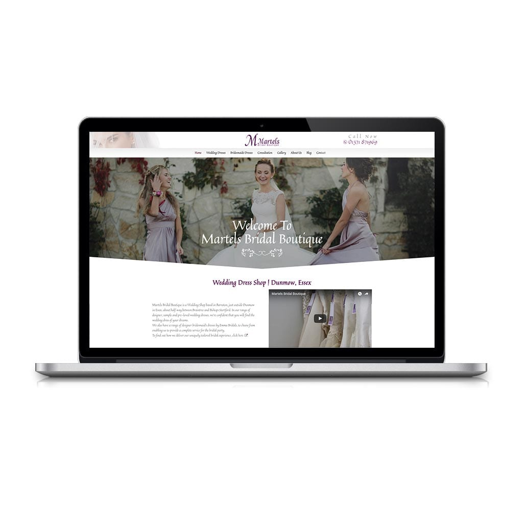 6385ffed5a3c Martels Bridal Boutique | Website & Marketing from Boxed Up Media