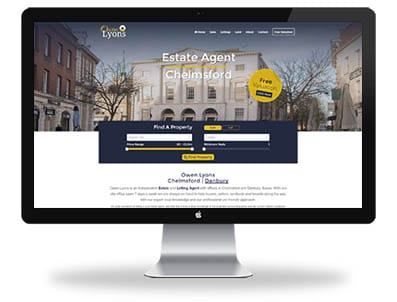 Owen Lyons website design Home page