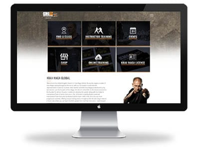 Krav Maga Global responsive website design